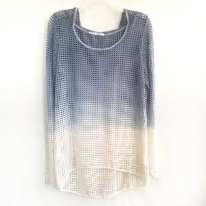 Maurices Mesh Hooded Top Cover-up Ombre dyed